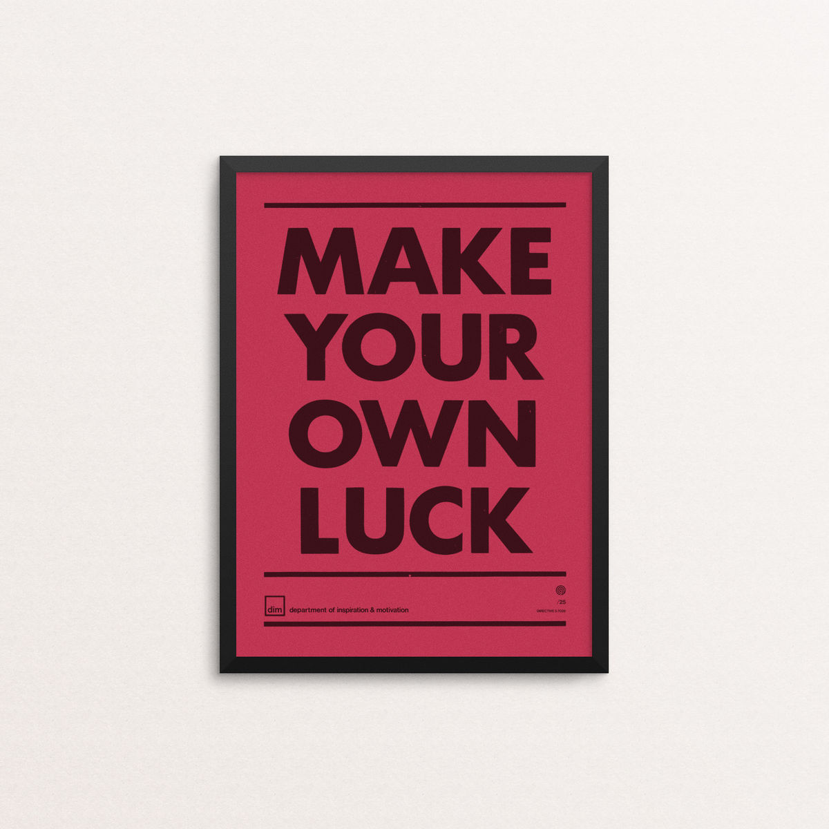 Make Your Own Luck - Ltd Edition Vermilion - product image