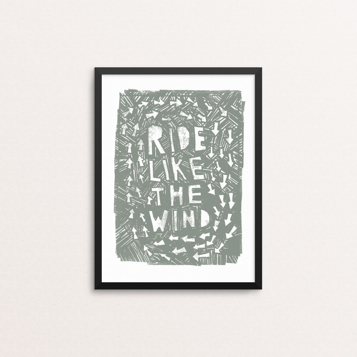 Ride Like The Wind - Open Edition Screen Print - product images  of