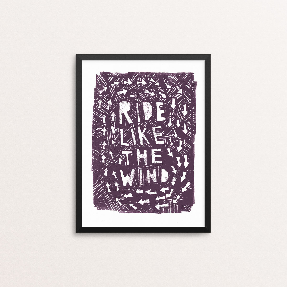 Ride Like The Wind - Open Edition Screen Print - product image