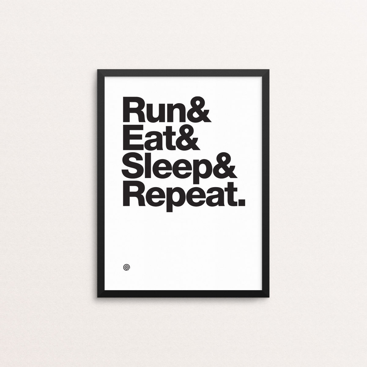 Run Eat Sleep Repeat - Giclee Print - product image