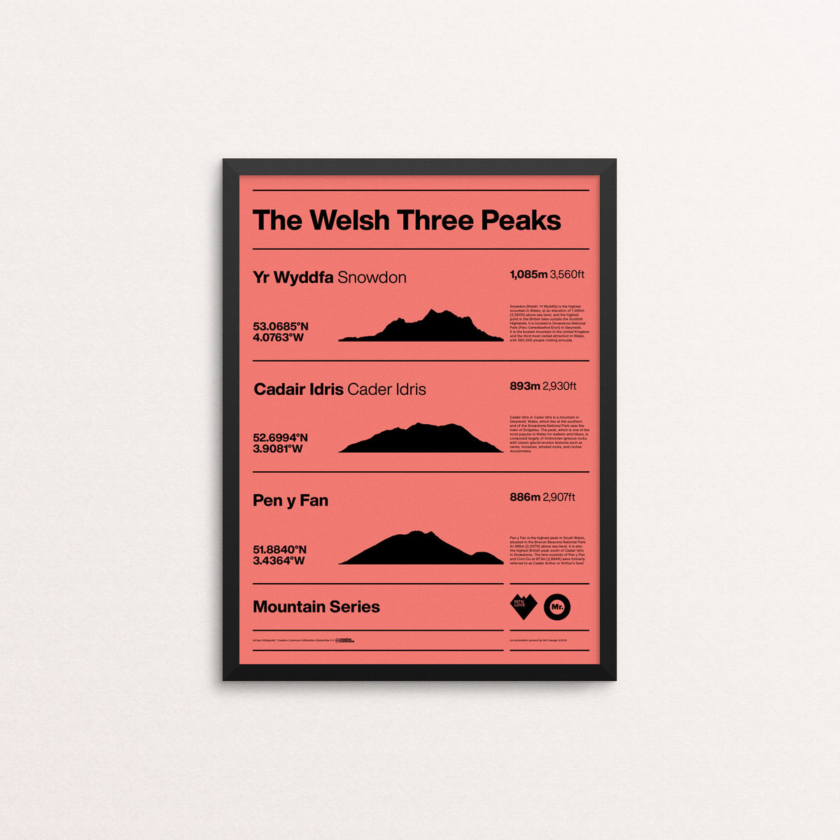 MTN Love - The Welsh Three Peaks - product image