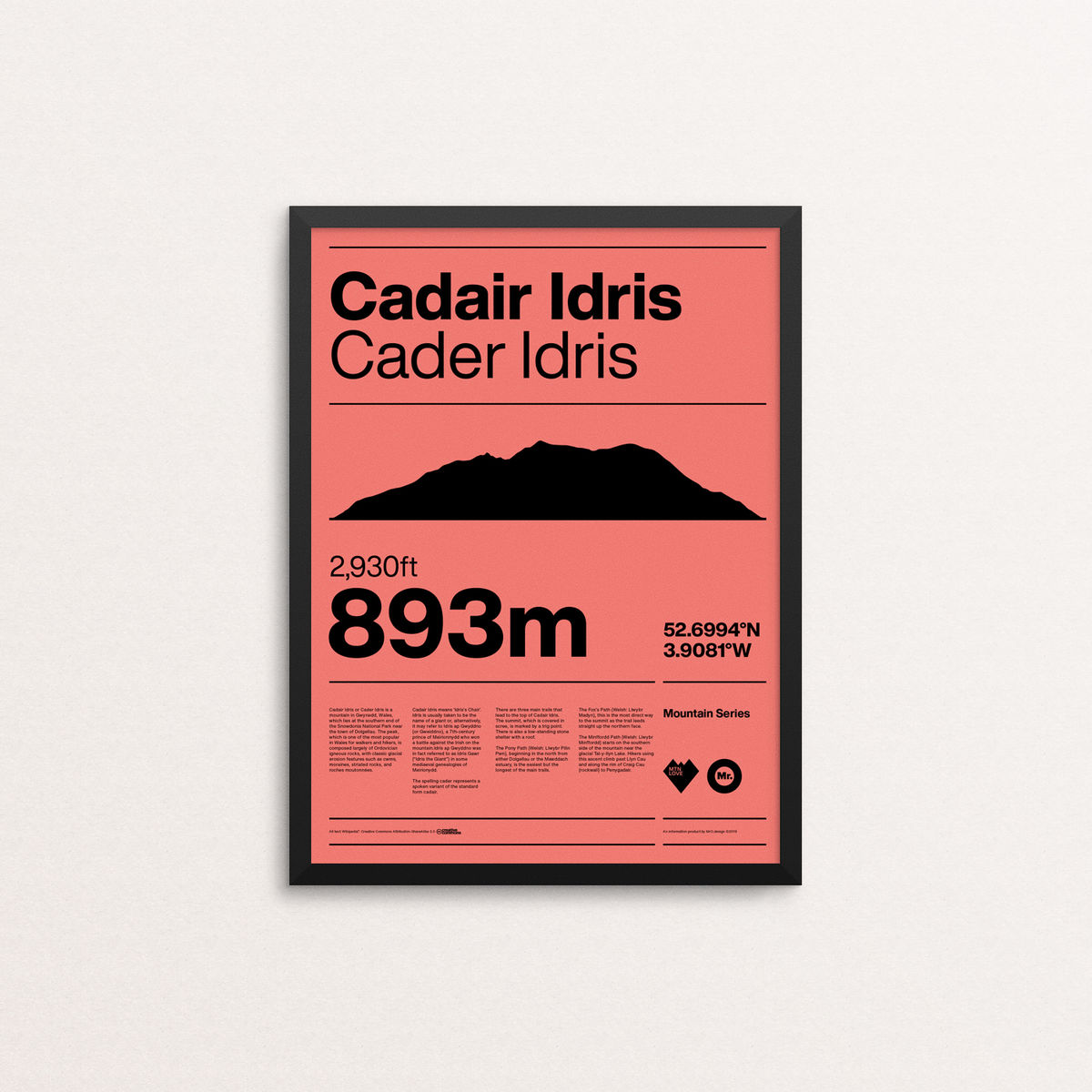MTN Love - Cader Idris - product image