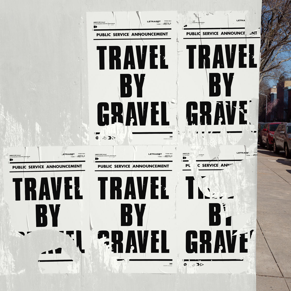 Travel By Gravel - Screen Print - product images  of