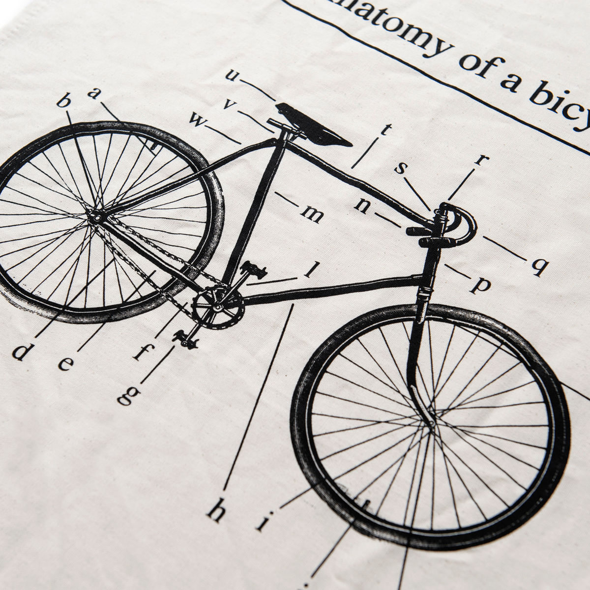Anatomy of a Bicycle - Tea Towel - product images  of