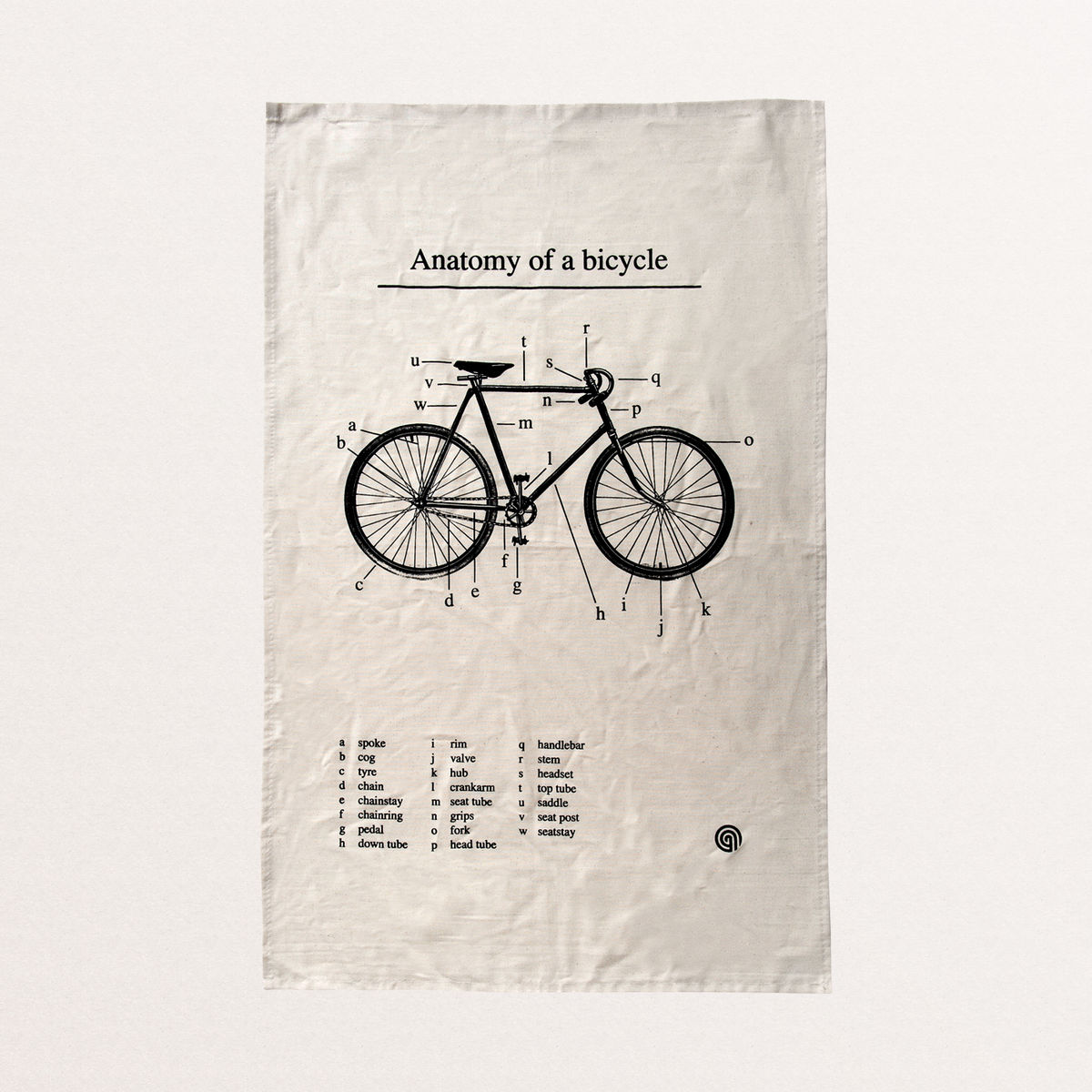 Anatomy of a Bicycle - Tea Towel - product image