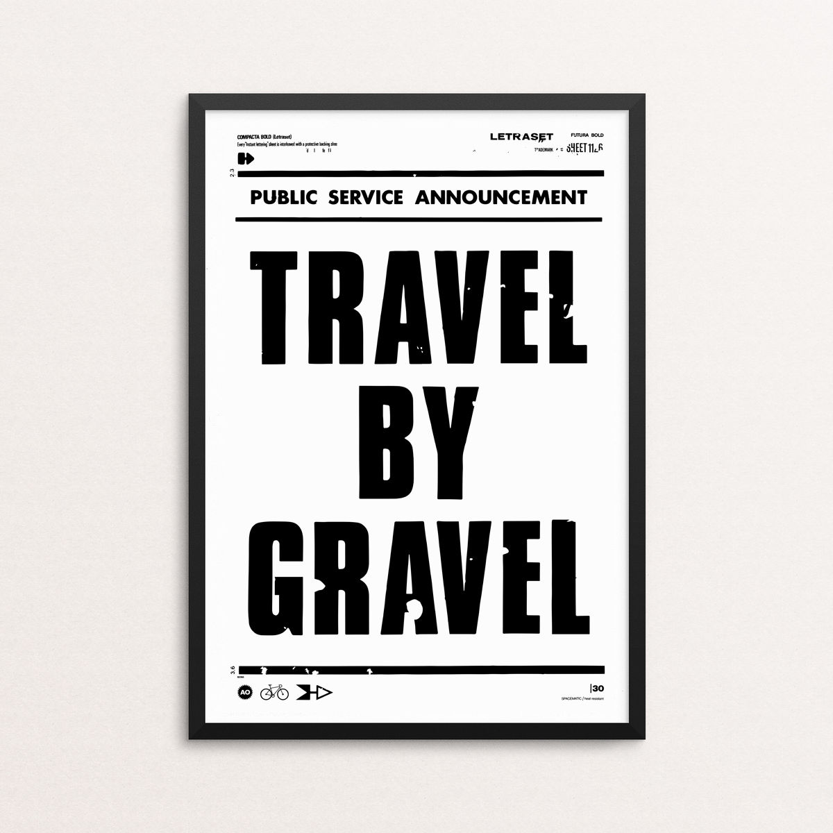 Travel By Gravel - Screen Print - product image