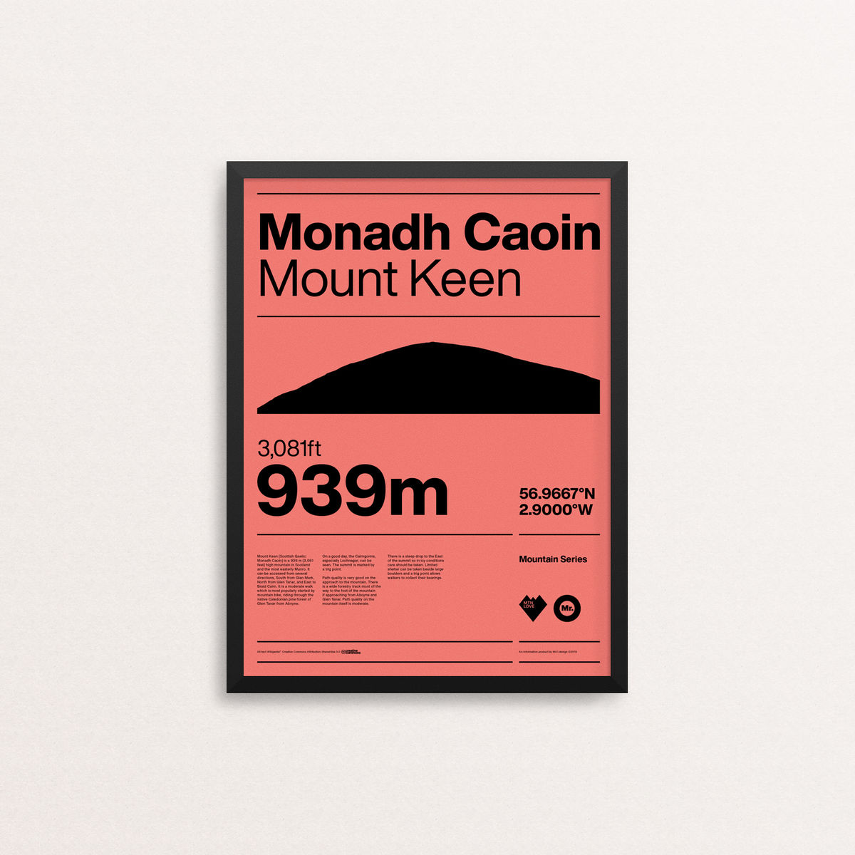 MTN Love - Mount Keen - product image