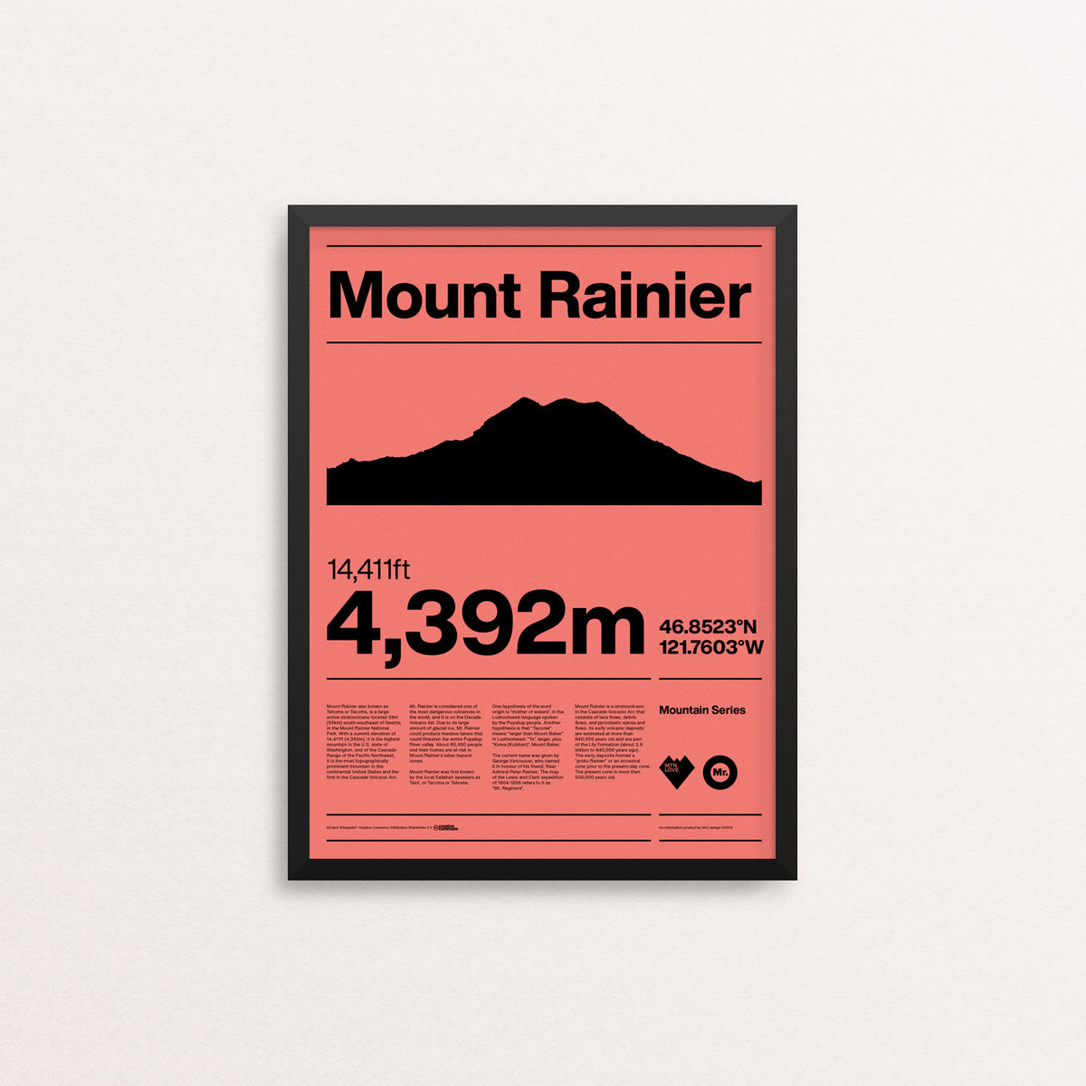 MTN Love - Mount Rainier - product image