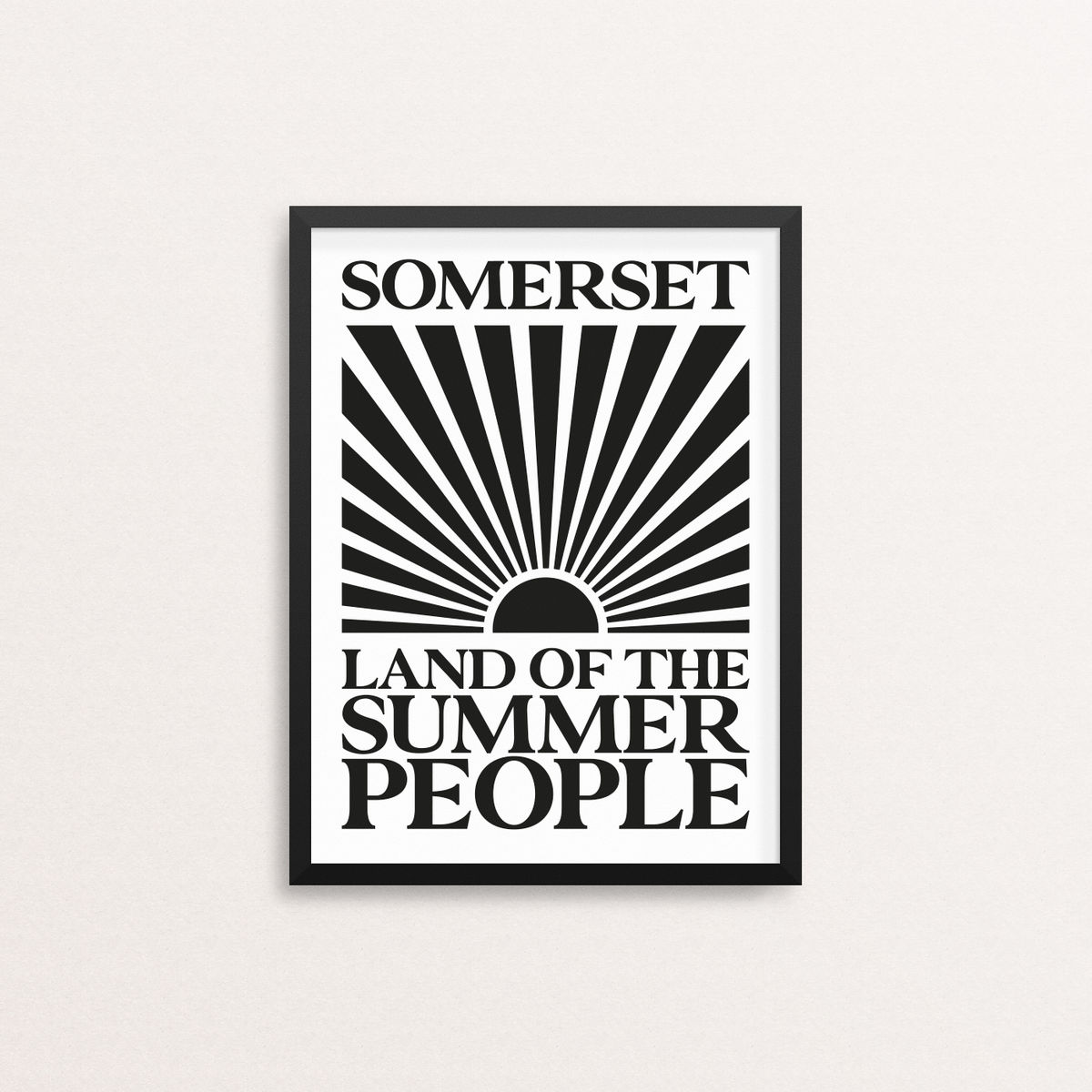 Somerset - Land of the Summer People - Open Edition Screen Print - product image