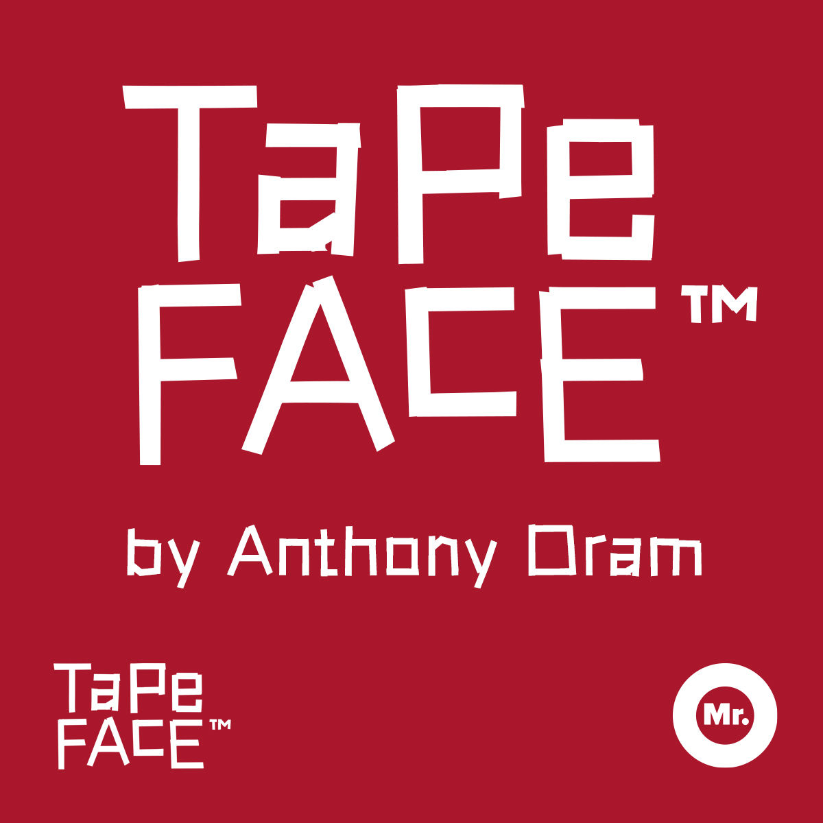 Tape-Face™ Typeface - product image