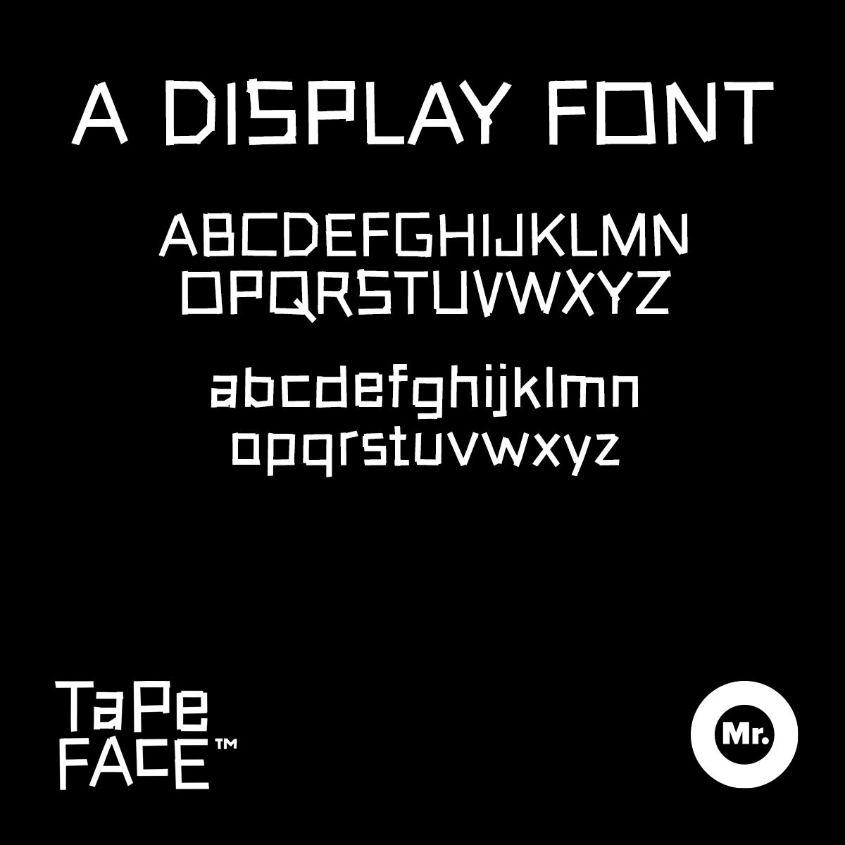 Tape-Face™ Typeface - product images  of