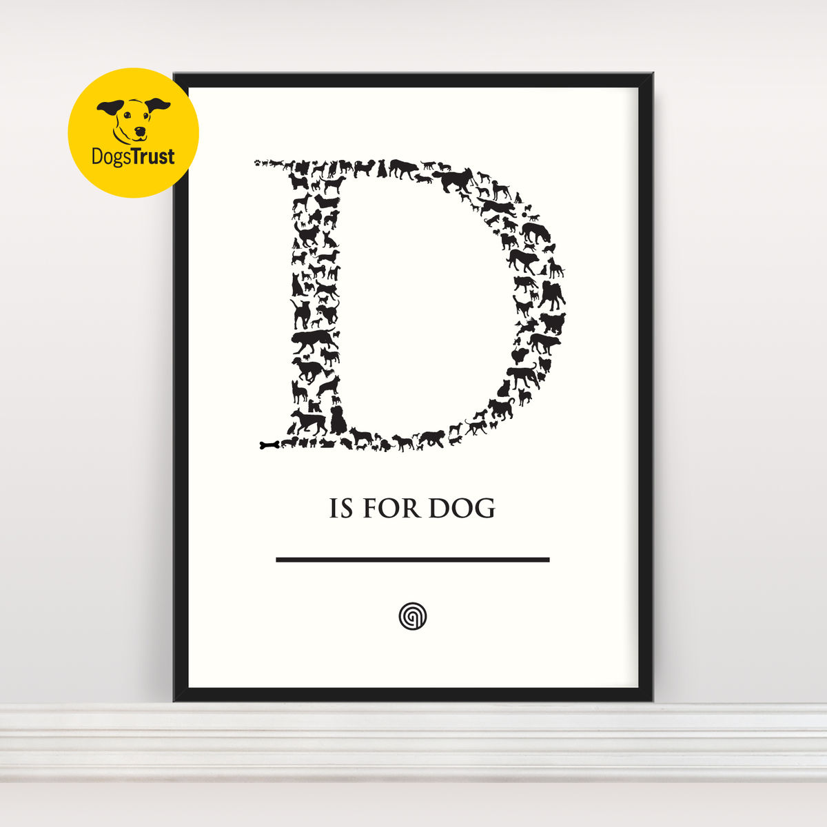 D is for Dog - Screen Print - product images  of