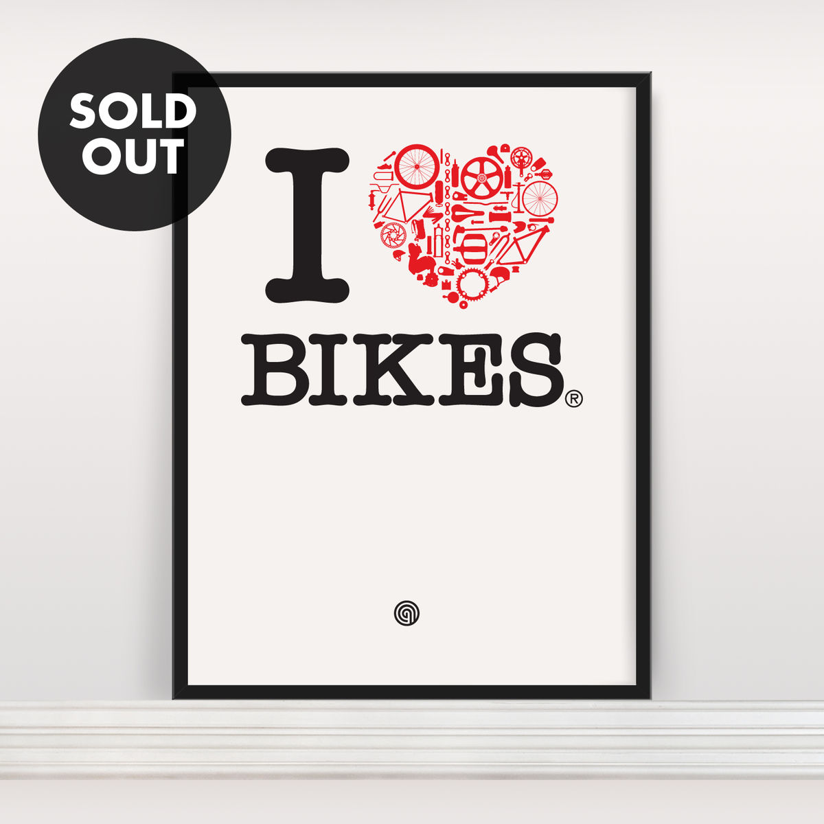 I Heart Bikes - Screen Print - product image