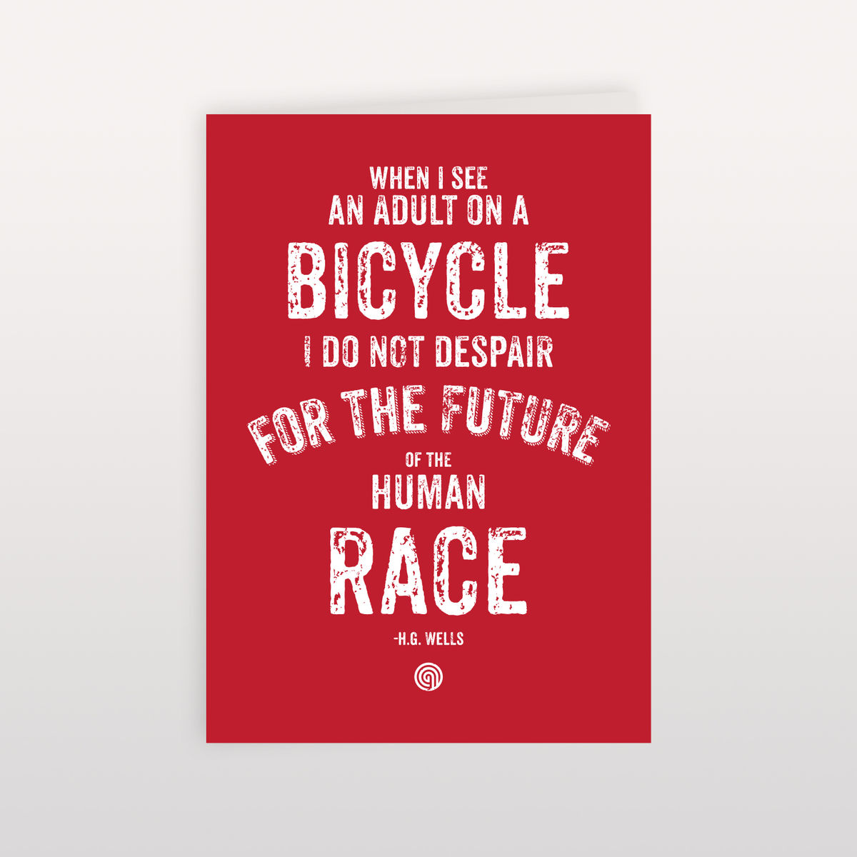 H.G. Wells Human Race Red 120x170mm - Greeting Card - product image