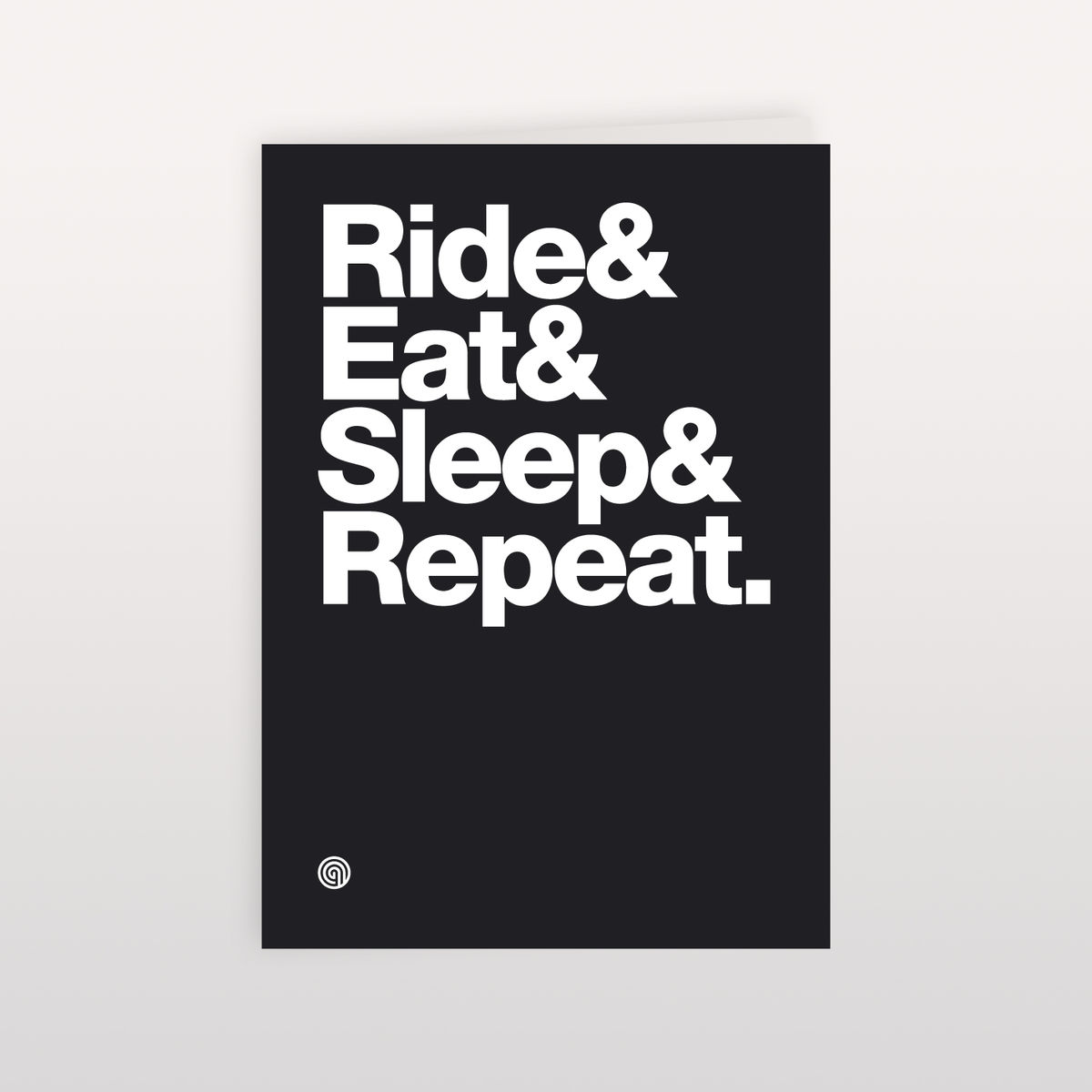 Ride&Eat&Sleep&Repeat 120x170mm - Greeting Card - product image