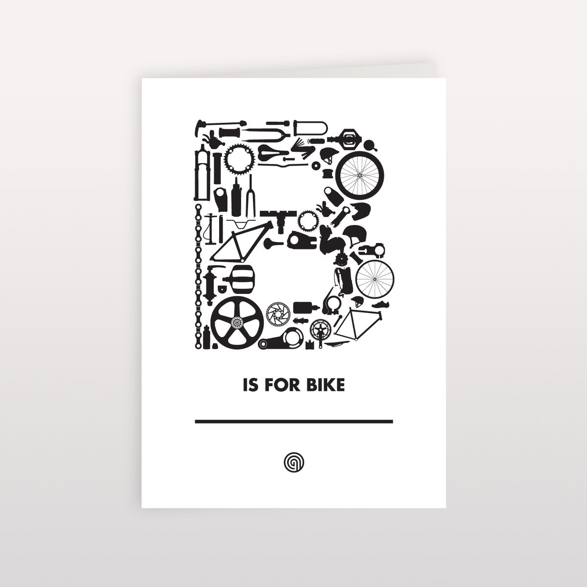 B is for Bike 120x170mm - Greeting Card - product image