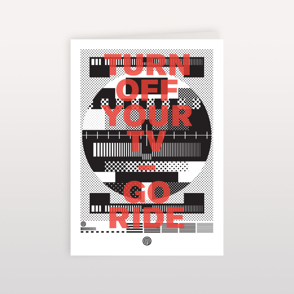 Turn Off Your TV - Go Ride 120mmx170mm - Greeting Card - product image