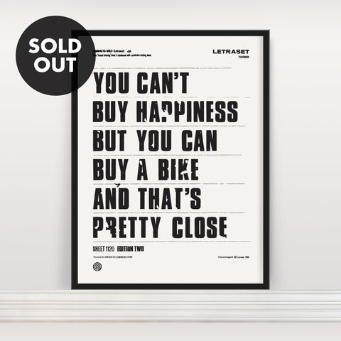 You,Can't,Buy,Happiness,-,Screen,Print,Edition,2,Screen Print, Typographic Poster, You Can't Buy Happiness
