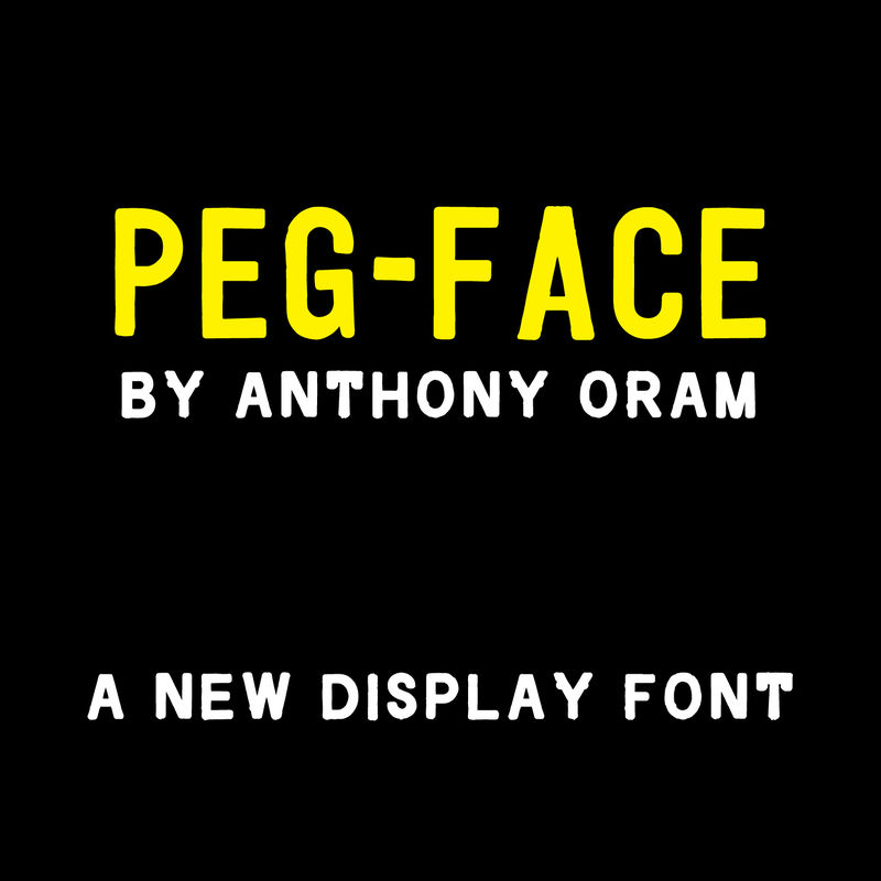 Peg-Face™ Typeface - product images  of