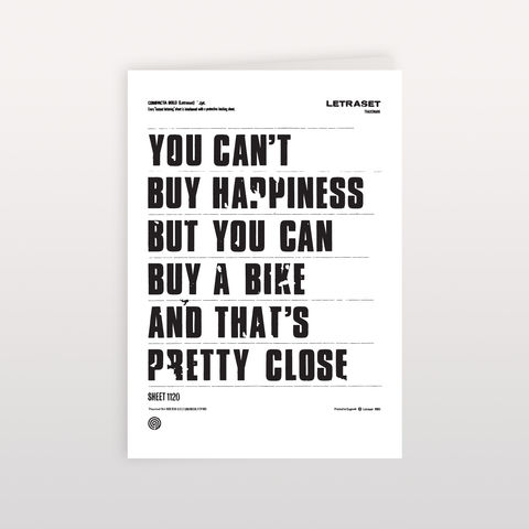 You,Can't,Buy,Happiness,120x170mm,-,Greeting,Card,You Can't Buy Happiness, Greeting Card, Anthony Oram