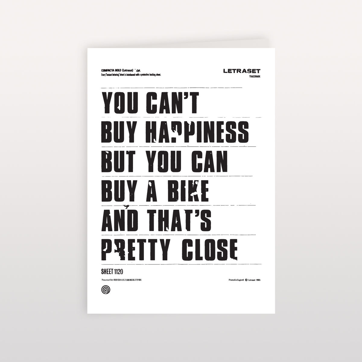 You Can't Buy Happiness 120x170mm - Greeting Card - product image