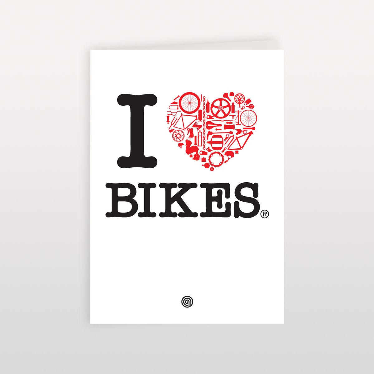 I Heart Bikes 120mmx170mm - Greeting Card - product image