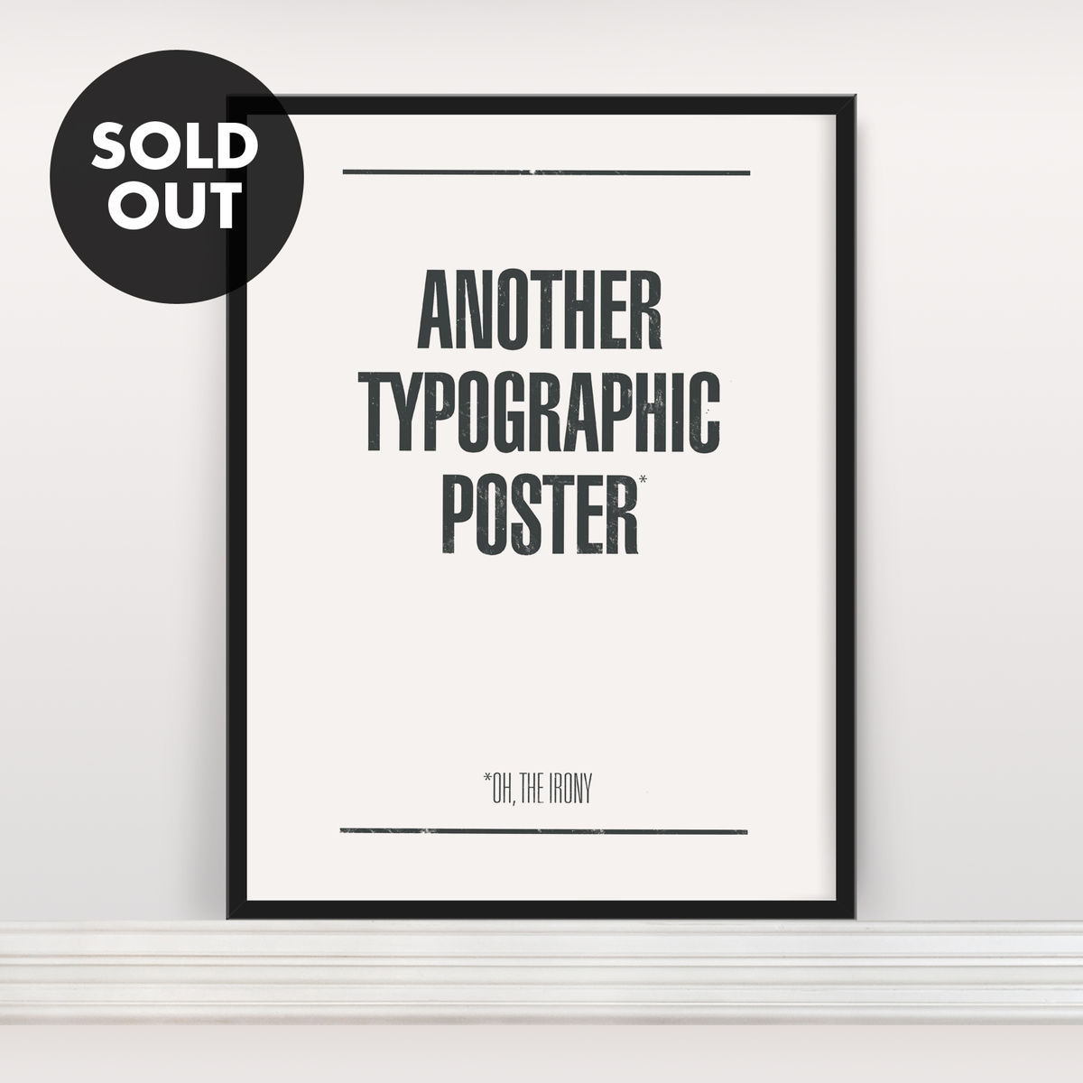 Another Typographic Poster - Screen Print - product image