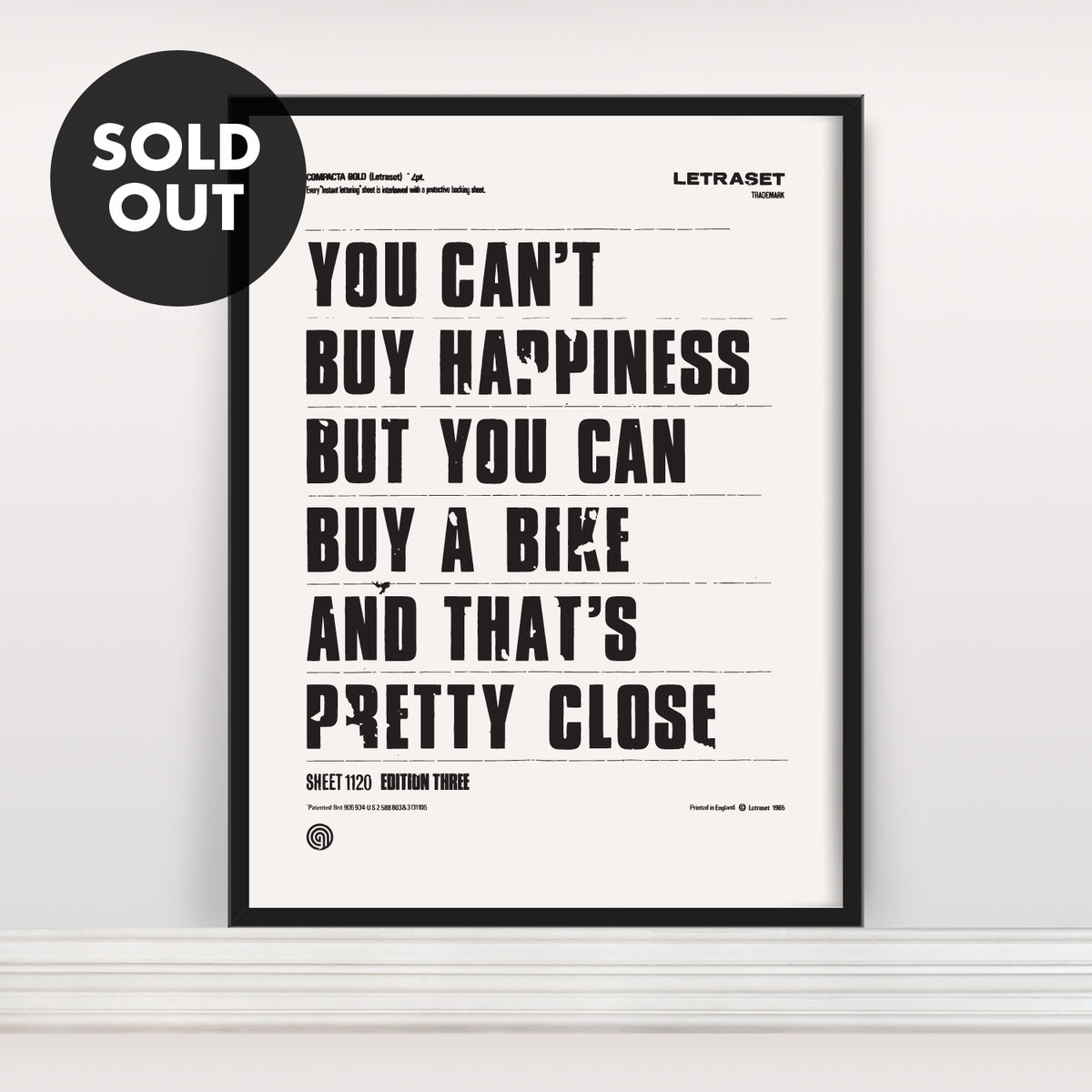 You Can't Buy Happiness - Screen Print Edition 3 - product image