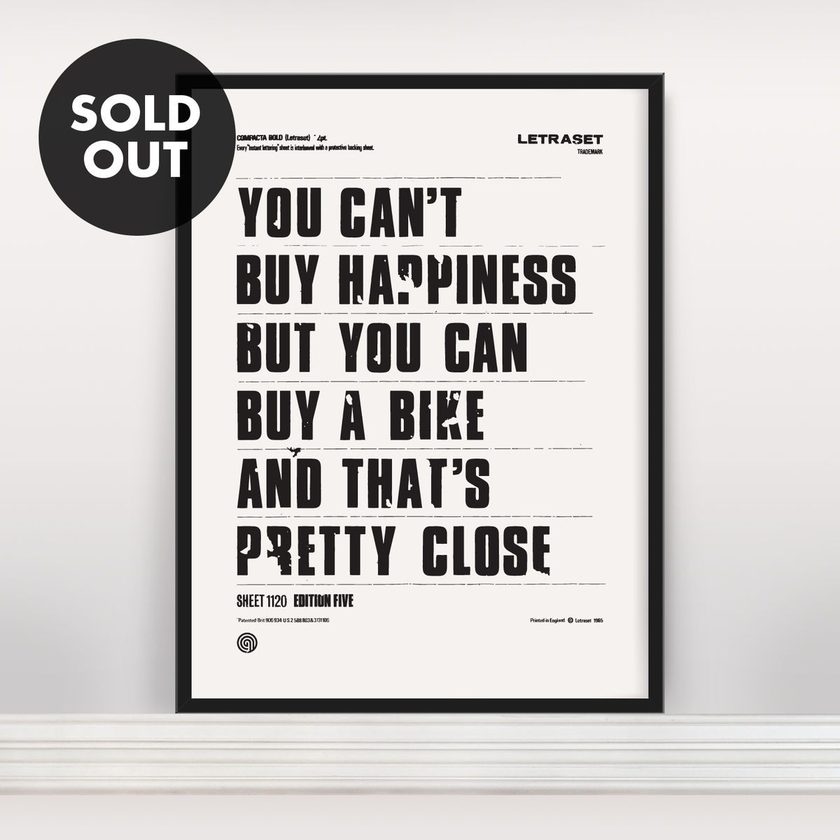 You Can't Buy Happiness - Screen Print Edition 5 - product image