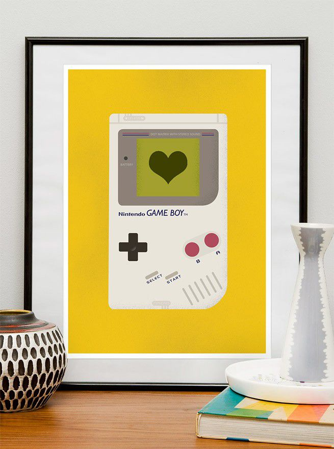 Gameboy poster - geekery retro gaming wall art - product image