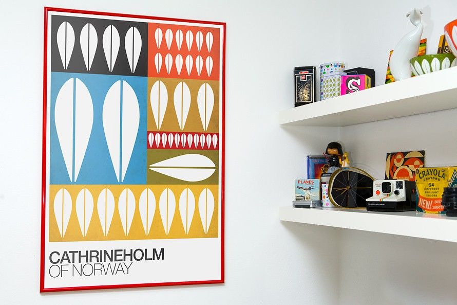 Cathrineholm poster  print Retro print  kitchen  wall decor - Of norway  A2 size - product images  of