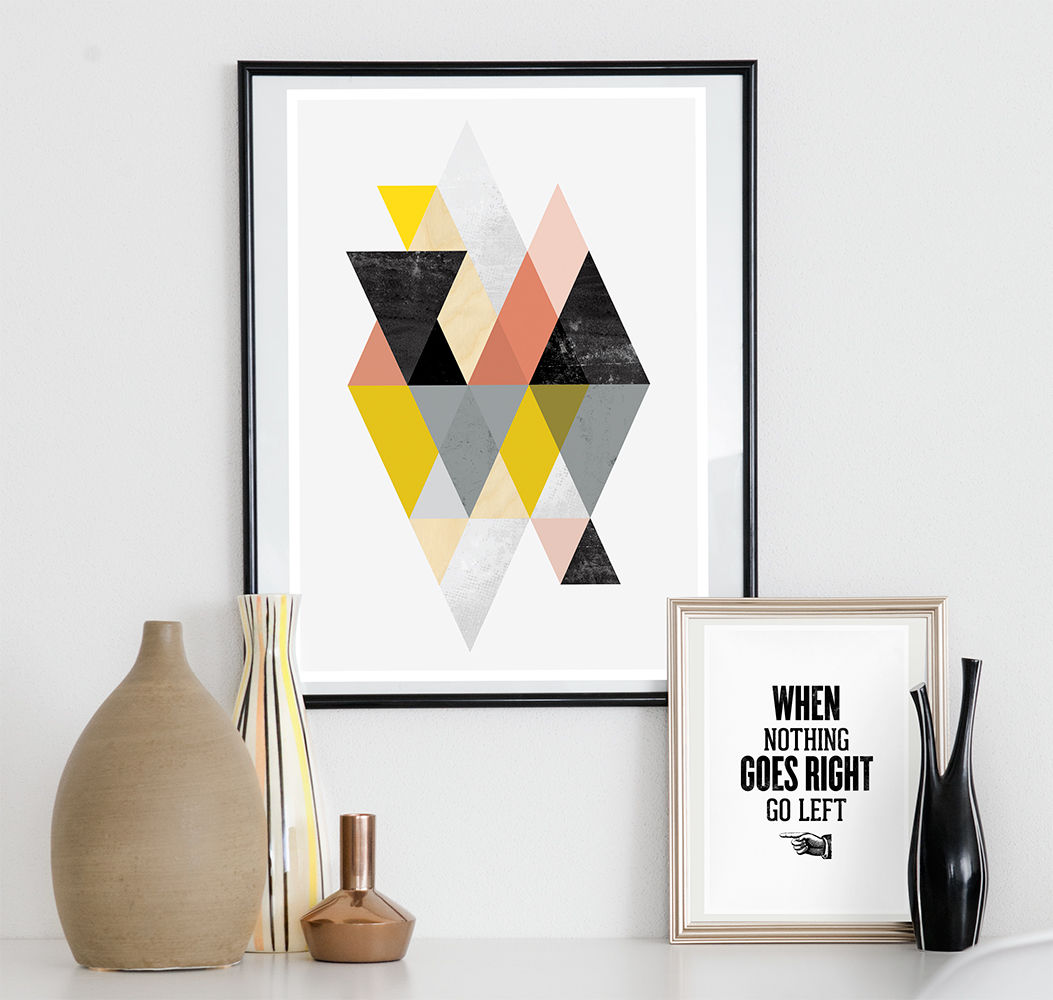 Abstract print, minimalist geometric poster - product image