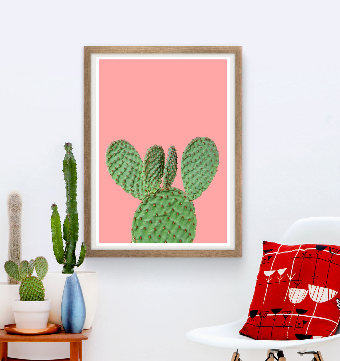 Cactus poster, botanical print, bohemian wall decor - product images  of