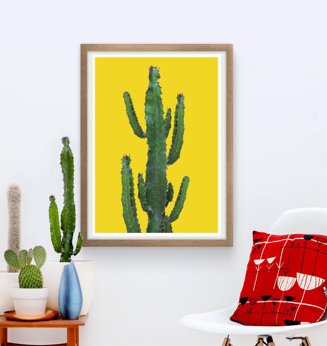 Cactus poster, botanical print, bohemian wall decor - ReStyle Shop