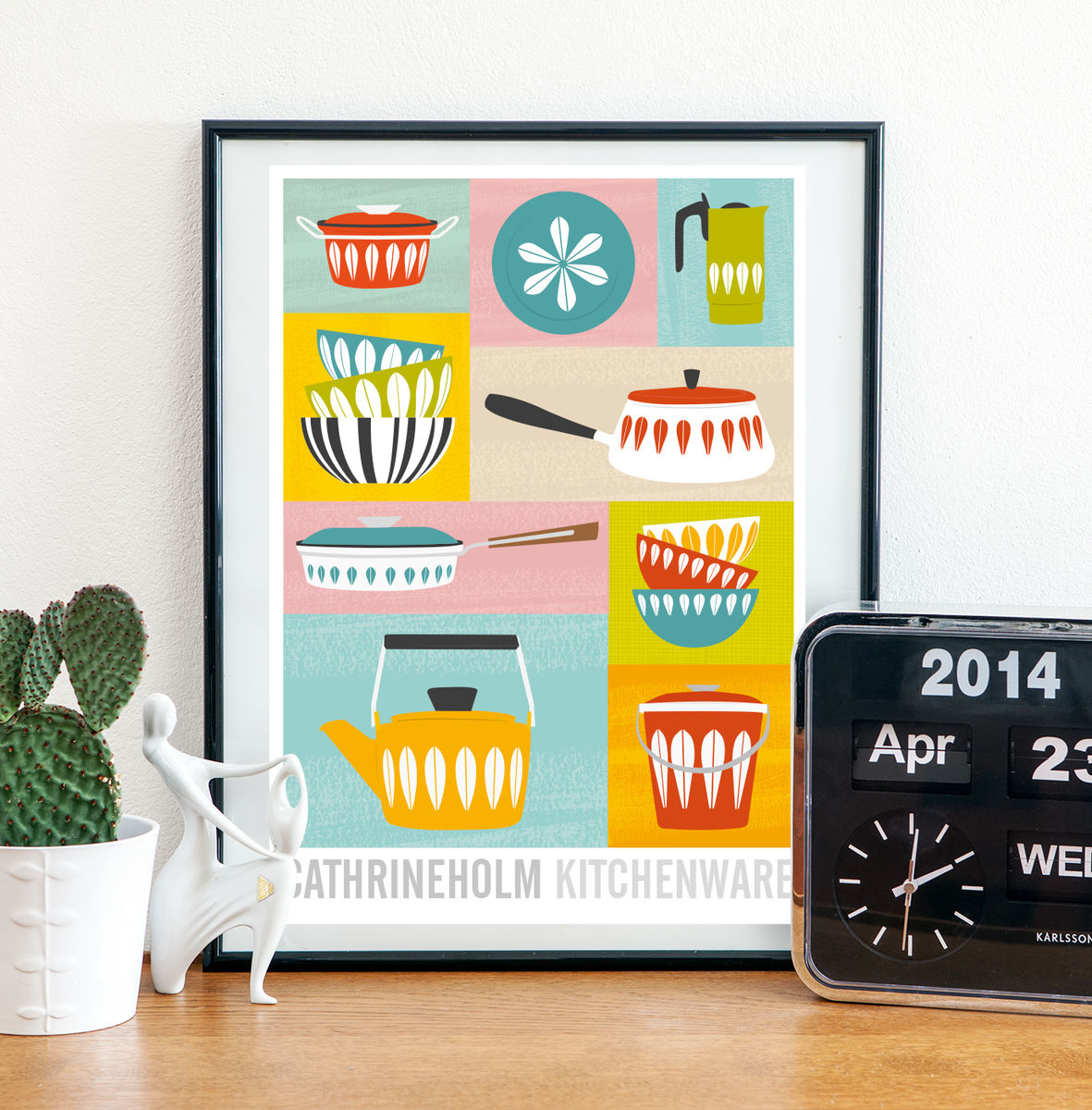 Cathrineholm retro kitchenware print - product image