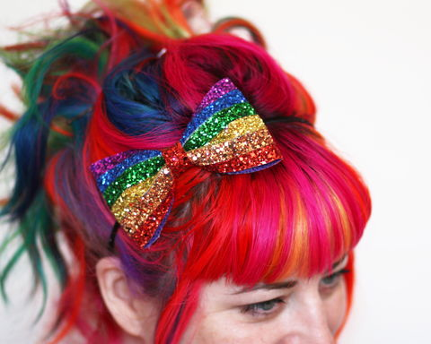 Rainbow,Stripe,Glitter,Bow,Headband,,and,Pastel,Accessories,Hair,Headband,stars,gold,glitter,starry,golden,sparkly,fun,cute,janinebasil,uk,gold_headband,star_headband,elastic_headband,cotton_twill,elastic,felt
