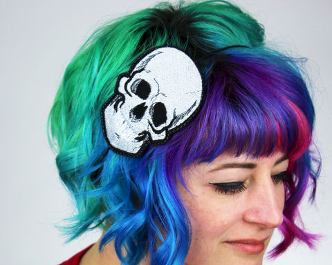 Skull,Headband,Accessories,headband,women,janine_basil,hair_band, skull