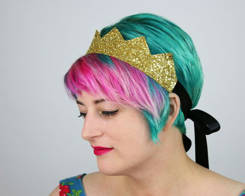 Glitter,Kingly,Crown,Headband,,Various,Colours,Accessories,Hair,Headband,stars,gold,glitter,starry,golden,sparkly,fun,cute,janinebasil,uk,gold_headband,star_headband,elastic_headband,cotton_twill,elastic,felt