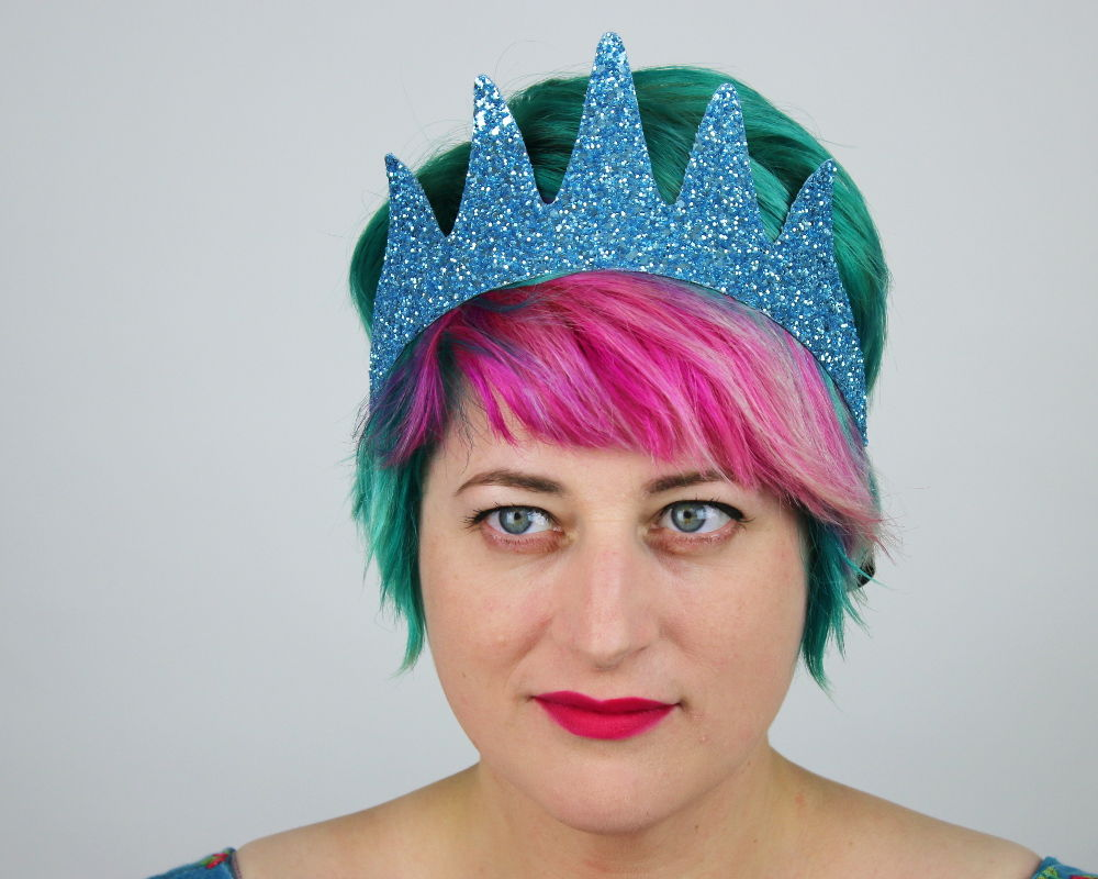Glitter Sea Queen Crown Headband, Various Colours - product images  of