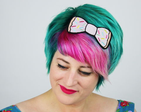 Donut,Fast,Food,Bow,Headband,Accessories,Hair,fastfood, bow, bowheadband