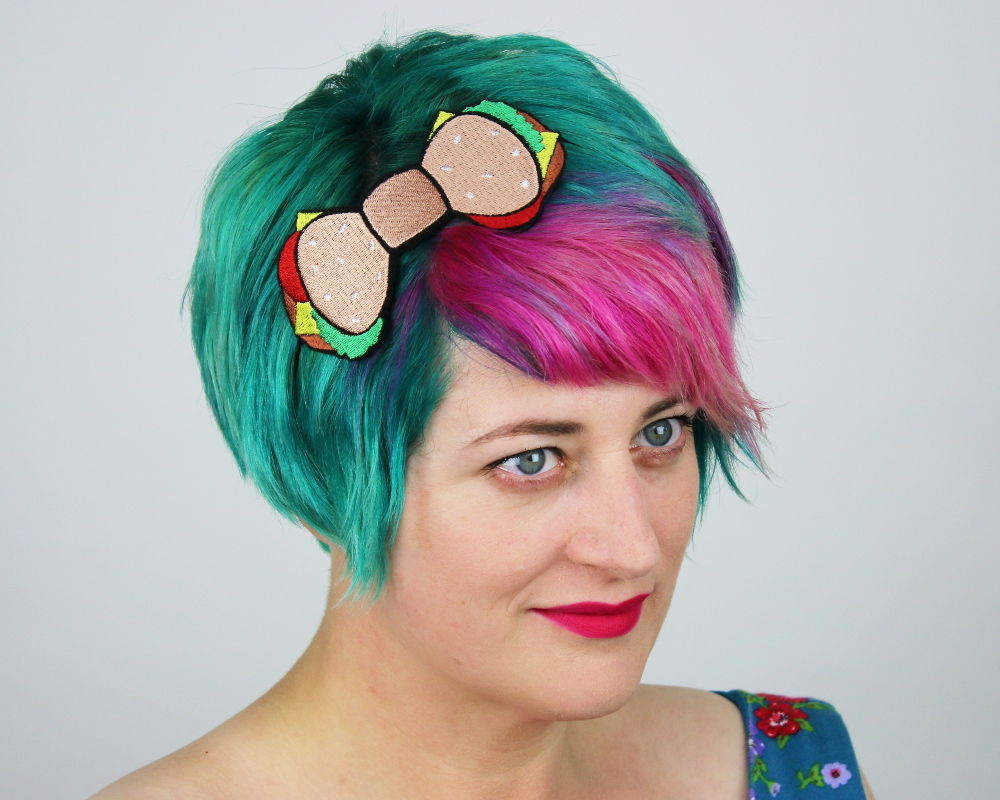 Burger Fast Food Bow Headband - product images  of