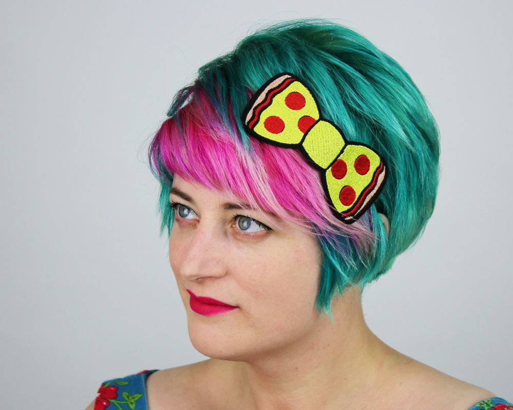 Pepperoni Pizza Fast Food Bow Headband - product images  of