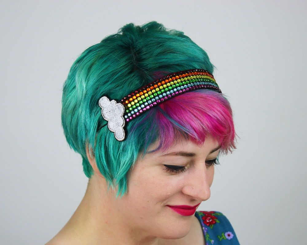 Rainbow Rhinestone Headband - product images  of