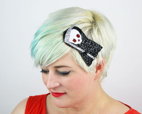 Cute,Death,Headband,,Glitter,,Halloween,,Black,death, cute, glitter, headband, halloween, spooky