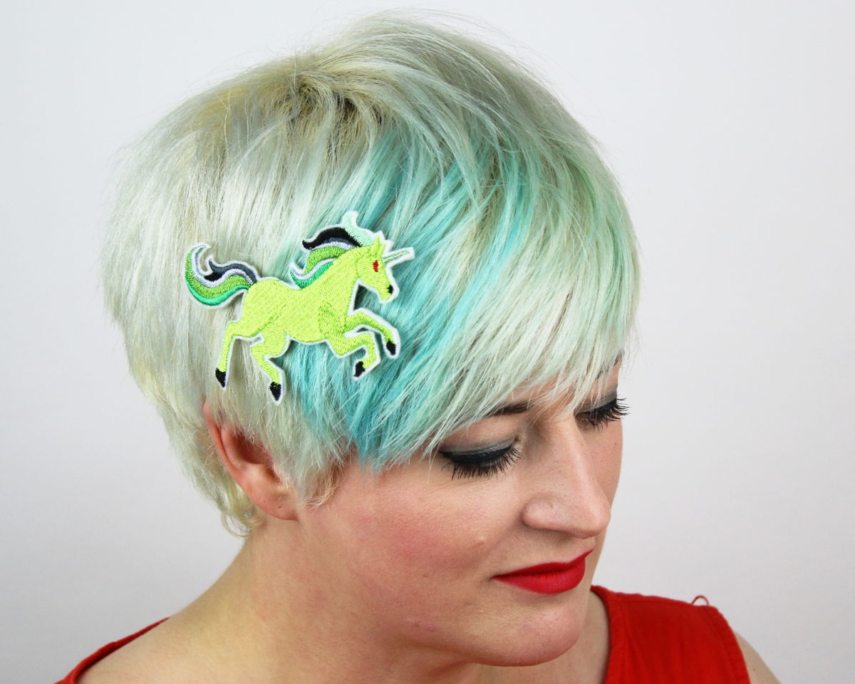 Zombie Unicorn Hair Clip - product image