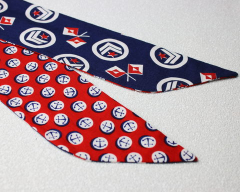 Flags,and,Anchors,Reversible,Wired,Headband,dolly bow headband, wired, tie hair band