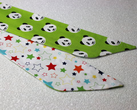 Pandas,and,Stars,Reversible,Wired,Headband,dolly bow headband, wired, tie hair band
