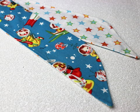 Space,Cadets,and,Stars,Reversible,Wired,Headband,dolly bow headband, wired, tie hair band