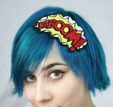 KABOOM,Comic,Book,Headband,headband, comic accessories, funky headband