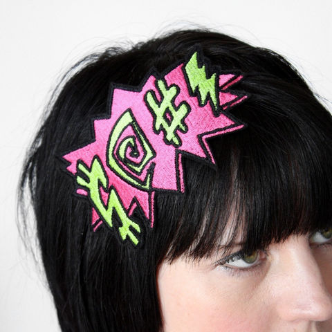 Potty,Mouth,Comic,Book,Headband,headband, comic accessories, funky headband